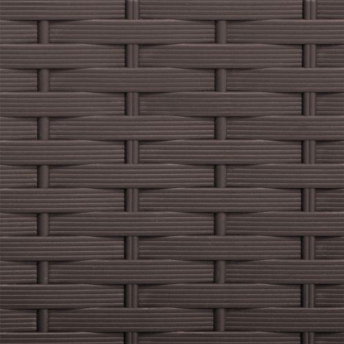 Auflagenbox auf Rollen Kunststoff Rattan-Optik Mokka 310L – Bild 6