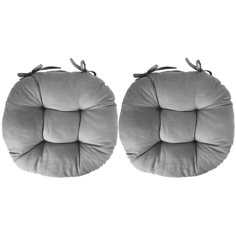 2er stuhlkissen stuhlauflage sitzkissen kissen auflage polster 40x40cm grau ebay. Black Bedroom Furniture Sets. Home Design Ideas
