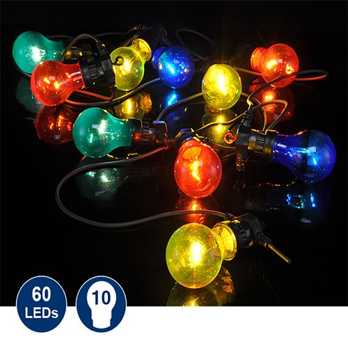 LED Party-Lichterkette mit 10 bunten Lichtern
