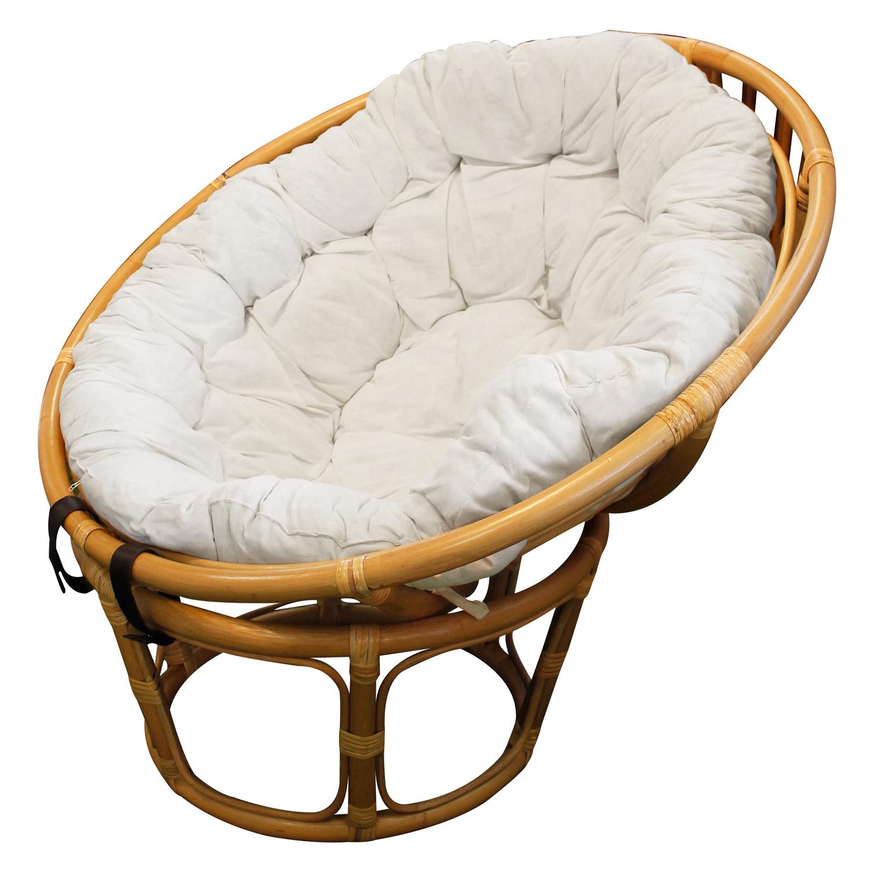 papasan sessel aus rattan mit kissenauflage beige m bel wohnen. Black Bedroom Furniture Sets. Home Design Ideas
