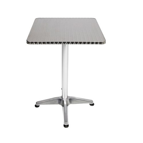 B-Ware Bistrostehtisch Aluminium 60x60cm H70/110cm Höhenverstellbar klappbar – Bild 2
