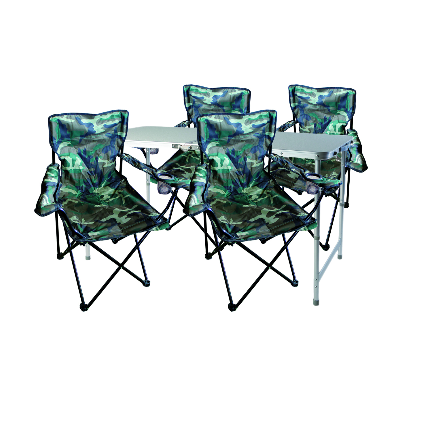 5 teiliges campingm bel set camouflage garten campingm bel. Black Bedroom Furniture Sets. Home Design Ideas