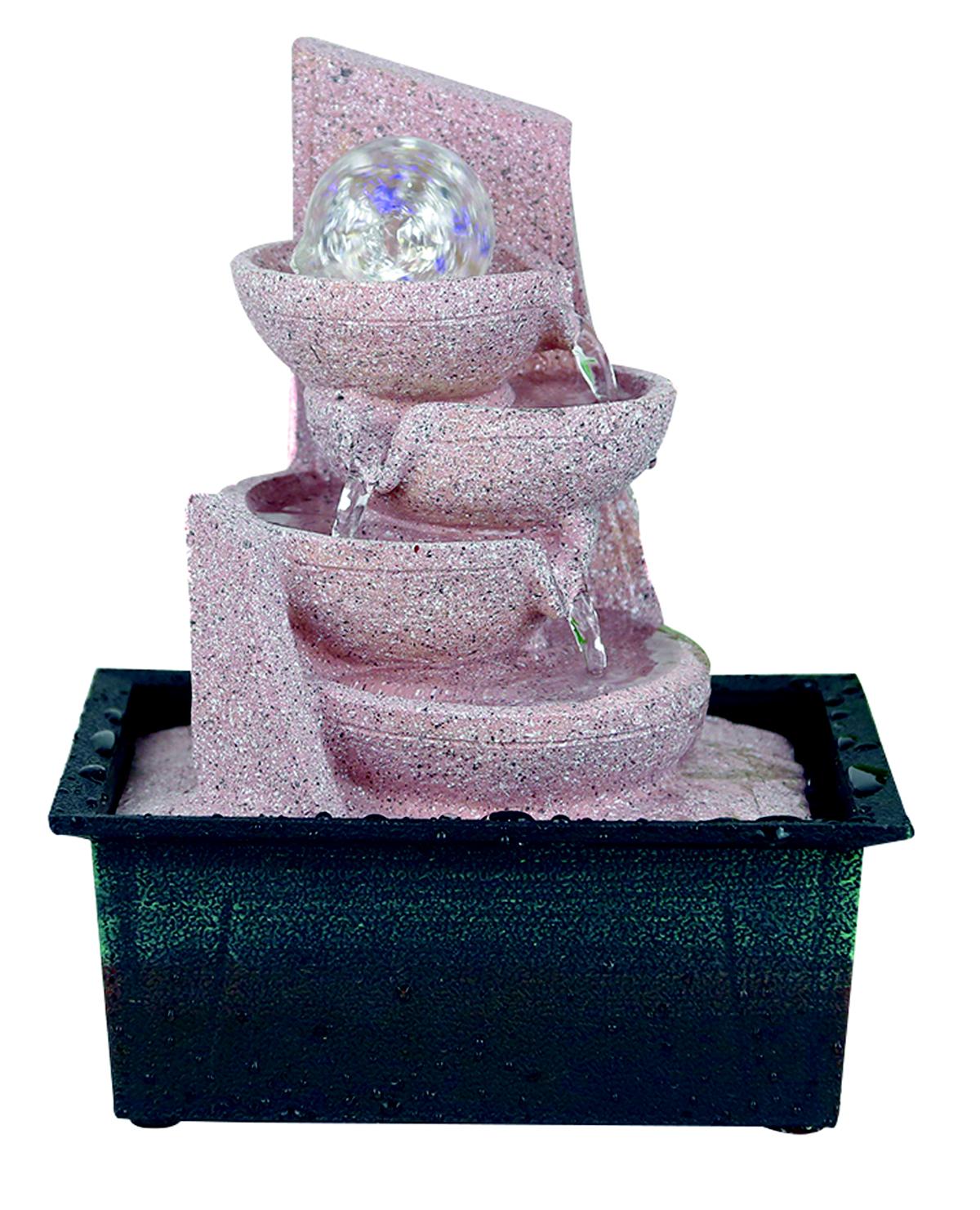 Zimmerbrunnen Mit Pumpe H27cm LED Beleuchtung Modell 6