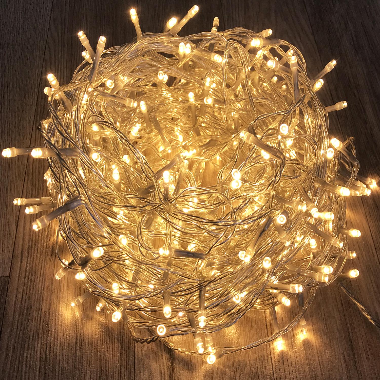 200 er LED Lichterkette Multicolor  Lichterdeko innen//außen  Kabel grün 20 Meter