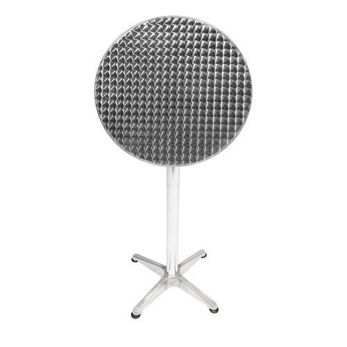 B-Ware Bistrostehtisch rund Silber Ø60cm H70/110cm Höhenverstellbar – Bild 5