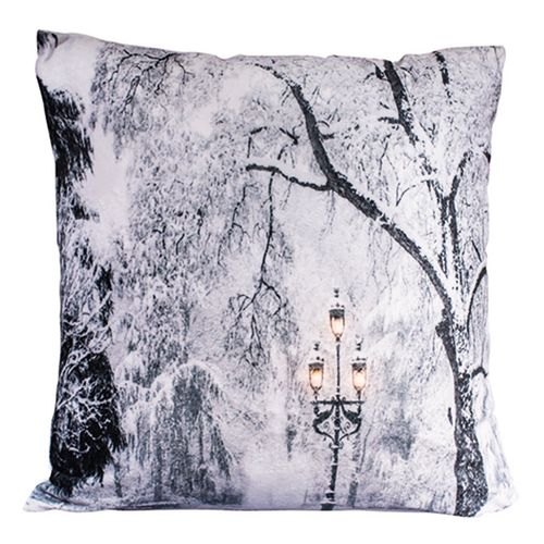 LED-Kissen Winterdesign 100% Polyester 45x45cm