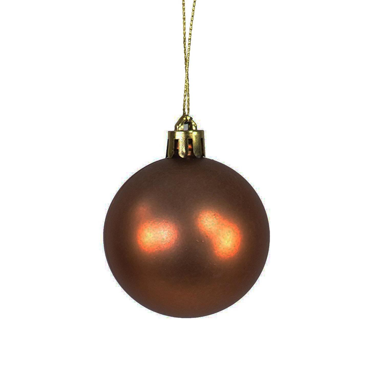 Einzelne Christbaumkugeln.60 Stuck Christbaumkugeln Weihnachtskugeln Braun O 4 5 6 7cm