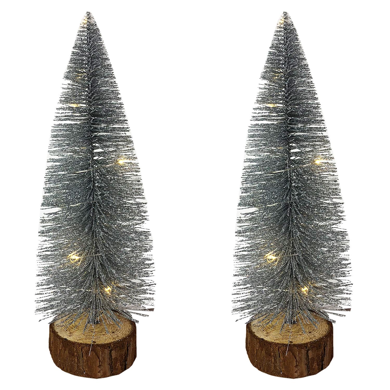 2tlg deko tannenbaum beleuchtet weihnachtsbaum. Black Bedroom Furniture Sets. Home Design Ideas