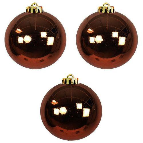 3 Stück XXL Weihnachtsbaumkugeln Christbaumkugeln Braun Ø 20cm – Bild 1