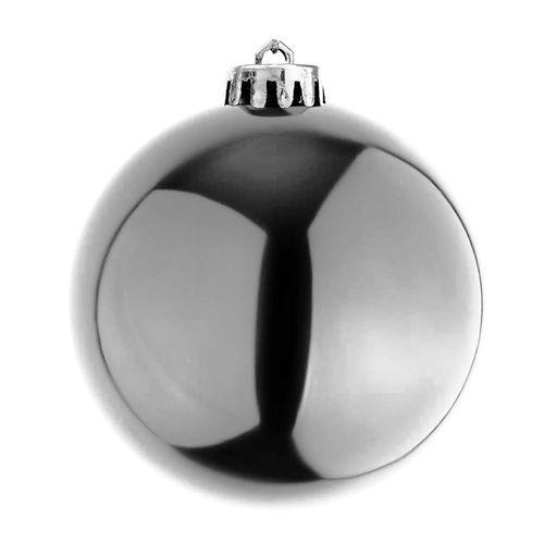 6 Stück XL Weihnachtsbaumkugeln Christbaumkugeln Silber Ø 15cm – Bild 2