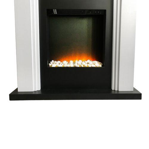 LED Elektrokamin Kaminfeuer mit MDF Umrandung + Gratis 2'er Holzkorb Set – Bild 6