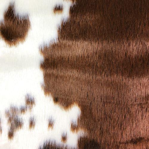 XXL Bettvorleger Fellteppich Dekofell Kuhfell ca. 100x94cm – Bild 2