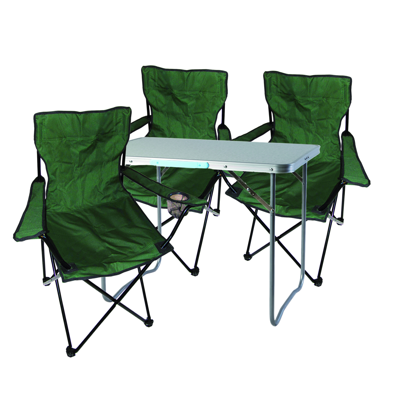 XL 5tlg Campingmöbel Set 80x60x68cm Alu mit Tragegriff Camping Petrol