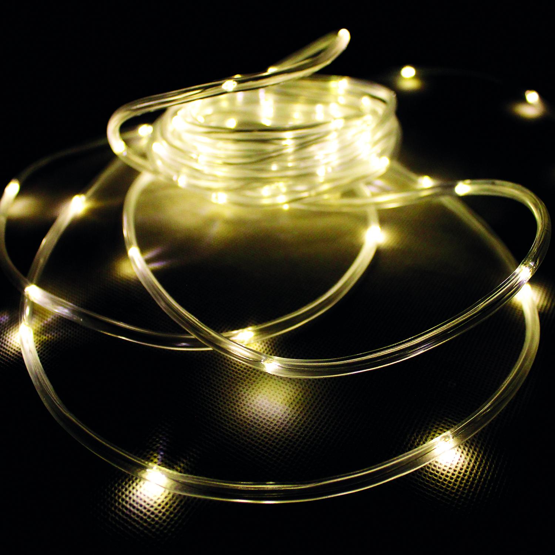 80er LED-Sternenvorhang Lichterkette Lichtervorhang Innen und Außen warmweiß