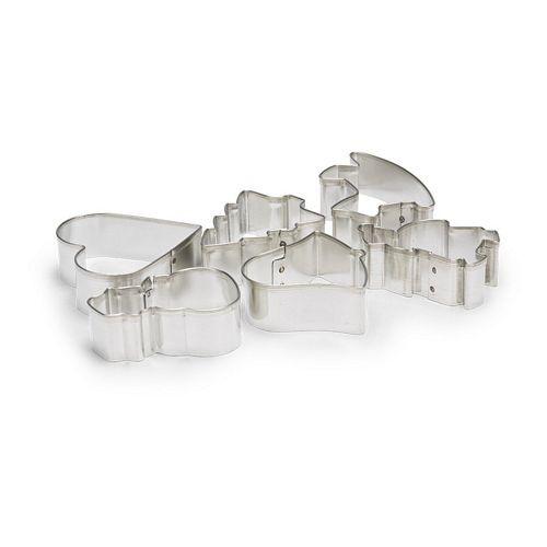 Patisse 6 Ausstecher - Ausstechformen - verschiedene Weihnachtsmotive - verzinnt