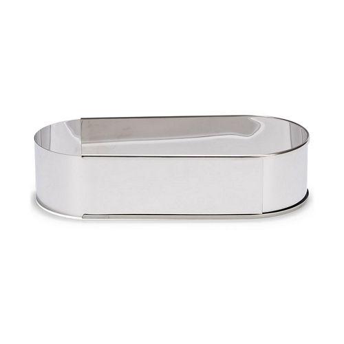 Patisse Backrahmen - Tortenring - Backring oval aus Edelstahl 27 > 40cm