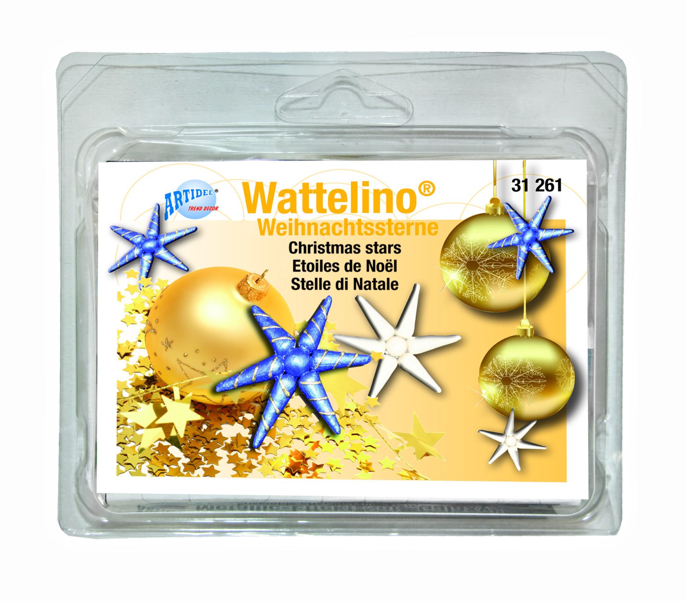 CREARTEC Wattelino - Weihnachtsterne die dekorativen Christbaumsterne zum selber Basteln