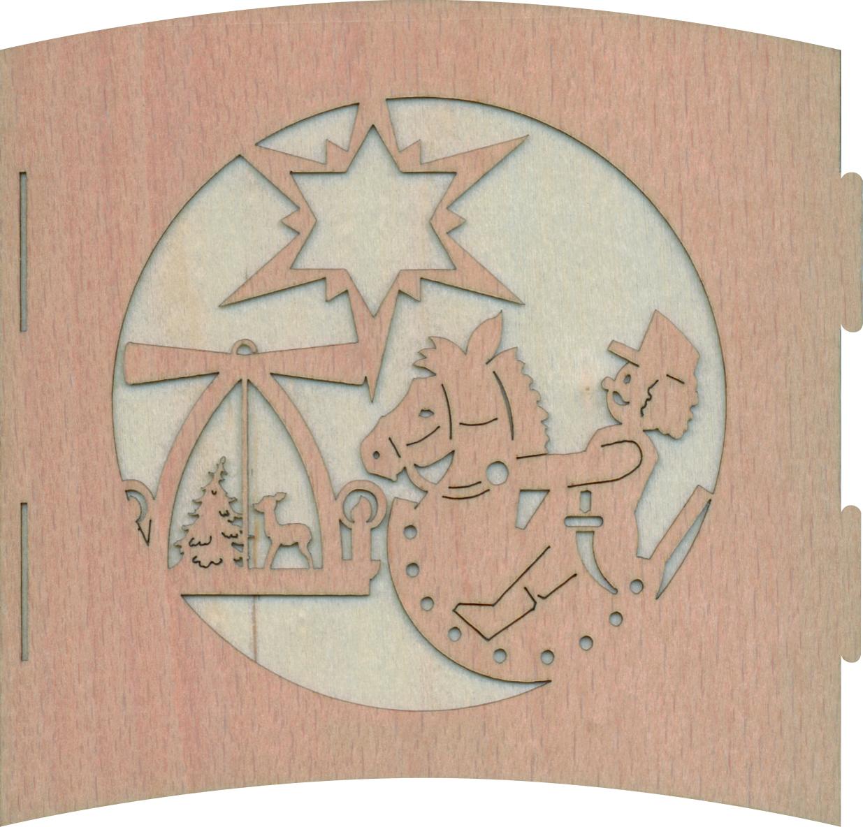 Drechslerei Kuhnert-Motivleuchte 3-seitig–Teelichhalter Sehenswürdigkeiten Holz-Erzgebirgische Holzkunst