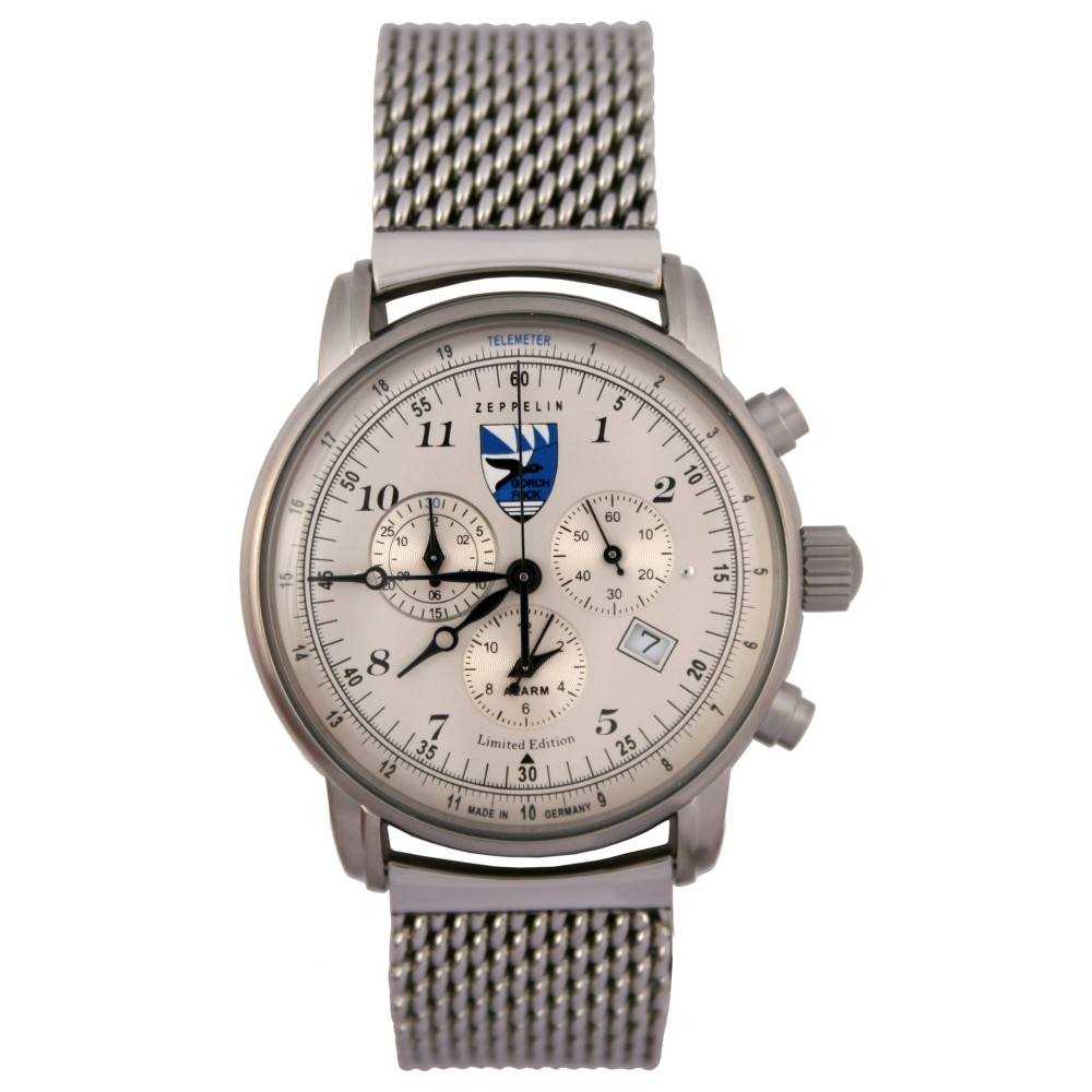 Zeppelin Herren Armbanduhr Gorch Fock 7675-5 Limited Edition - Made in Germany