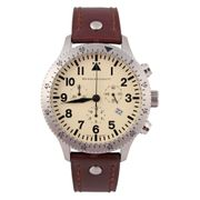 Messerschmitt Chronograph Herren Fliegeruhr ME-5030Beige - Made in Germany