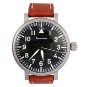 Messerschmitt Aristo Jumbo XL ME-55HB Herren Fliegeruhr mit Lederband - Made in Germany