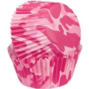 Wilton Mini-Muffin Förmchen in phantasievollem Camouflage-Muster und in spielerischem Pink, 100/Pkg.