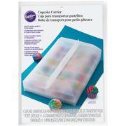 Wilton Cupcake Transportbox ideal zur Aufbewahrung und Frischhaltung für 24 Cupcakes mit hohem durchsichtigen Deckel, inklusive Einsatzschalen