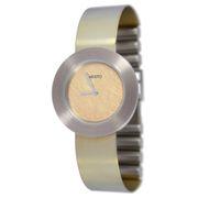 Aristo Quarz DAU Titan Damenuhr mit Spangenarmband Oxidiert - Gelb 5D94