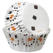 Wilton Cupcakeförmchen mit fröhlichem Schneemann-Muster ideal für die Weihnachtstage, 50 Stk.