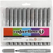 Creativ Company Colortime Filzschreiber grau - Filzstift Malstift Fasermaler