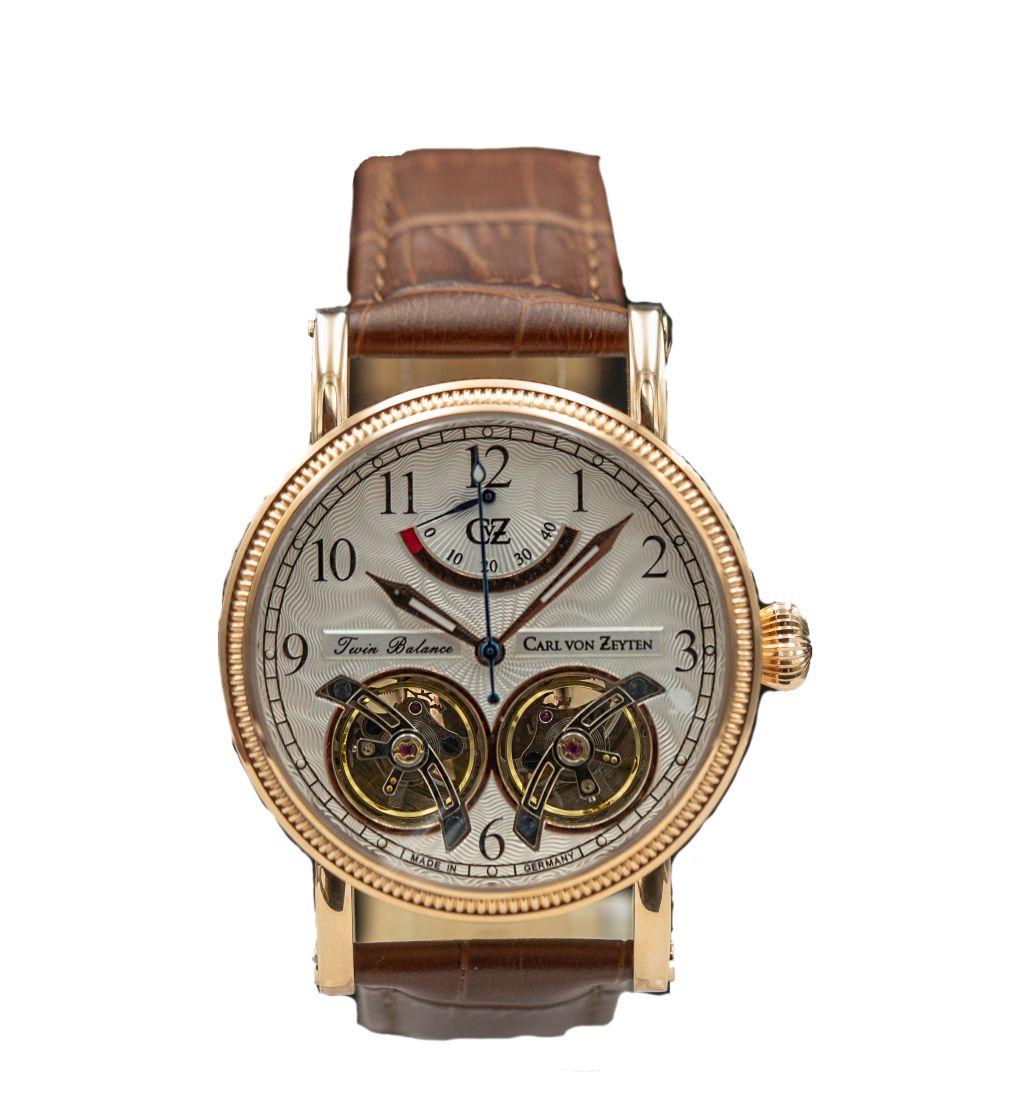 Carl von Zeyten Black Forest Edition Automatik Herren Armbanduhr Bernau CVZ0033RWH - Made in Germany