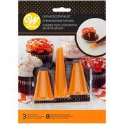 Wilton Deko Utensilien Halloween - Spritzbeutel & Tüllen - Herstellung Cupcakes