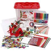 Creativ Company Bastelkiste Bastelmaterialien Set - Bastelbox für Kreativarbeit