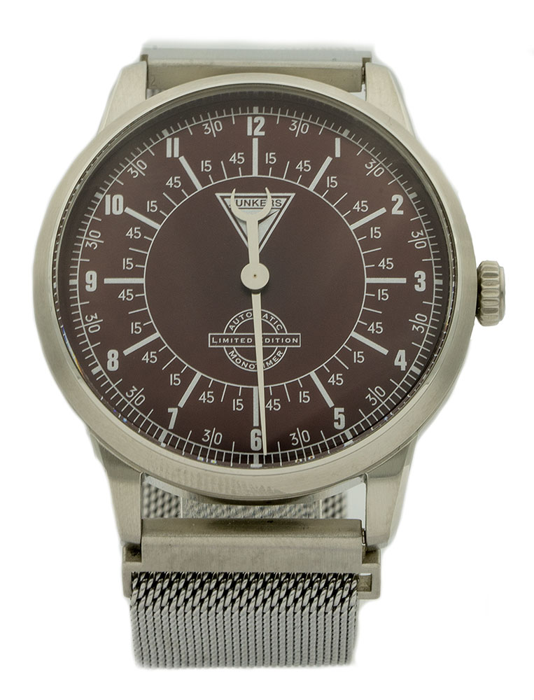 Junkers Herren Automatikuhr  Monotimer Limited Edition Milanaise Armband Silber 6362-2 – Made in Germany