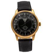 Junkers Automatik Monotimer Herren Flieger Uhr Limited Edition Leder Armband 6368-4 Made in Germany