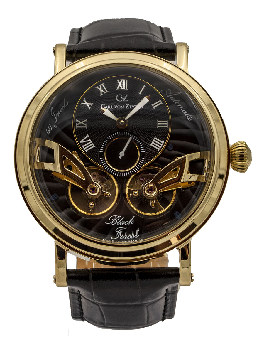 Carl von Zeyten Black Forest Edition Automatik Herren Armbanduhr Brandenberg CvZ0017GBK - Made in Germany
