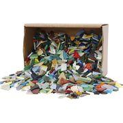 Creativ Company Mosaiksteine Glas 2kg - Bastelmosaik Mosaikfliesen Glassteine