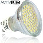 10x LED Spot SMD 3528 Leuchtmittel GU10 300lm 230V Neutralweiß mit Schutzglas