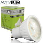 10x LED SMD 2835 Lampes GU10 400lm 230V 3000K blanc chaud