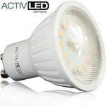 1x LED SMD 2835 lights GU10 400lm 230V 3000K warm white