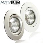 10x Deckeneinbaurahmen aus Aluminium schwenkbar für LED und Halogen