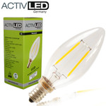 1x LED Leuchtmittel Kerzenform E14 200lm 230V Warmweiß ⌀35mm 3000K