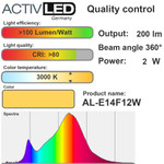 10x LED Leuchtmittel Kerzenform E14 200lm 230V Warmweiß ⌀35mm 3000K