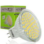 1x MR16 LED Spot SMD 2835 Leuchtmittel 300lm - 320lm 12V Neutralweiß 4000K mit Schutzglas ersetzt 35 Watt Halogen