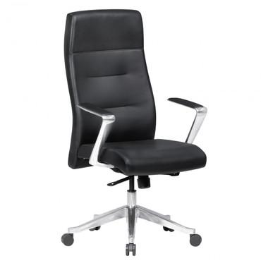 Bürostuhl BELFORT Echtleder Schwarz Schreibtischstuhl XXL 120kg mit Kopfstütze Drehstuhl höhenverstellbar hoc