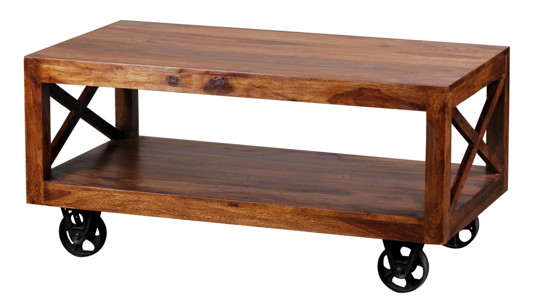 Couchtisch Pali Massiv Holz Sheesham 110 Cm Breit Wohnzimmer Tisch