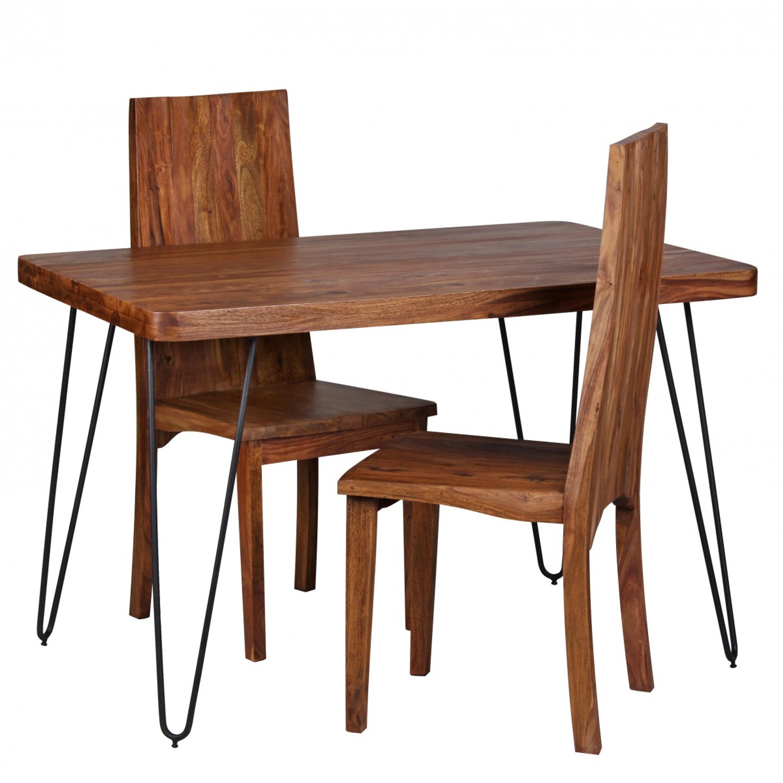 Esstisch Bagli Massivholz Sheesham 120 Cm Esszimmer Tisch Holztisch
