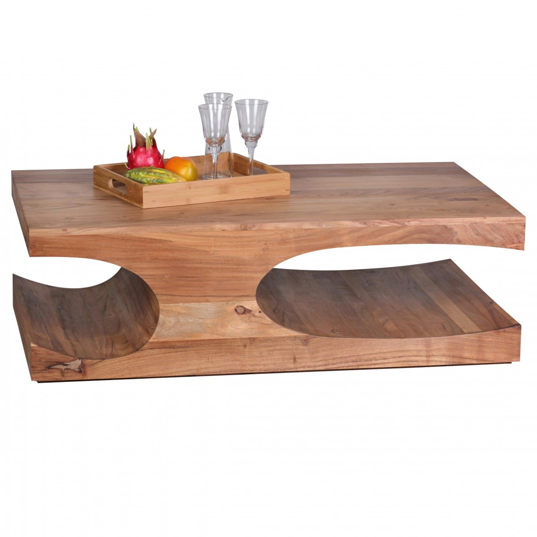 Couchtisch Boha Massiv Holz Akazie 118 Cm Breit Wohnzimmer Tisch