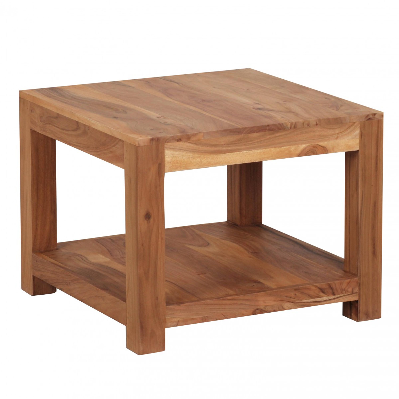 Couchtisch Mumbai Massiv Holz Akazie 60 X 60 Cm Wohnzimmer Tisch