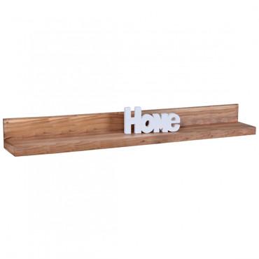 Wandregal MUMBAI Massiv-Holz Akazie Holzregal 160 cm Landhaus-Stil Hänge-Regal Echt-Holz Wand-Board Natur-Produkt